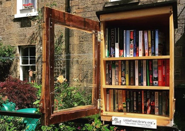 The replenished Little Free Library in Stockbridge which was robbed last week. Picture: Facebook