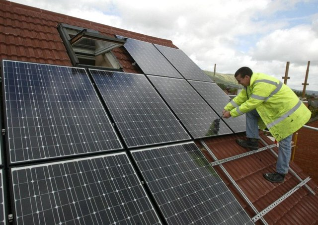 Council buildings are to be fitted with solar panels. Picture: PA
