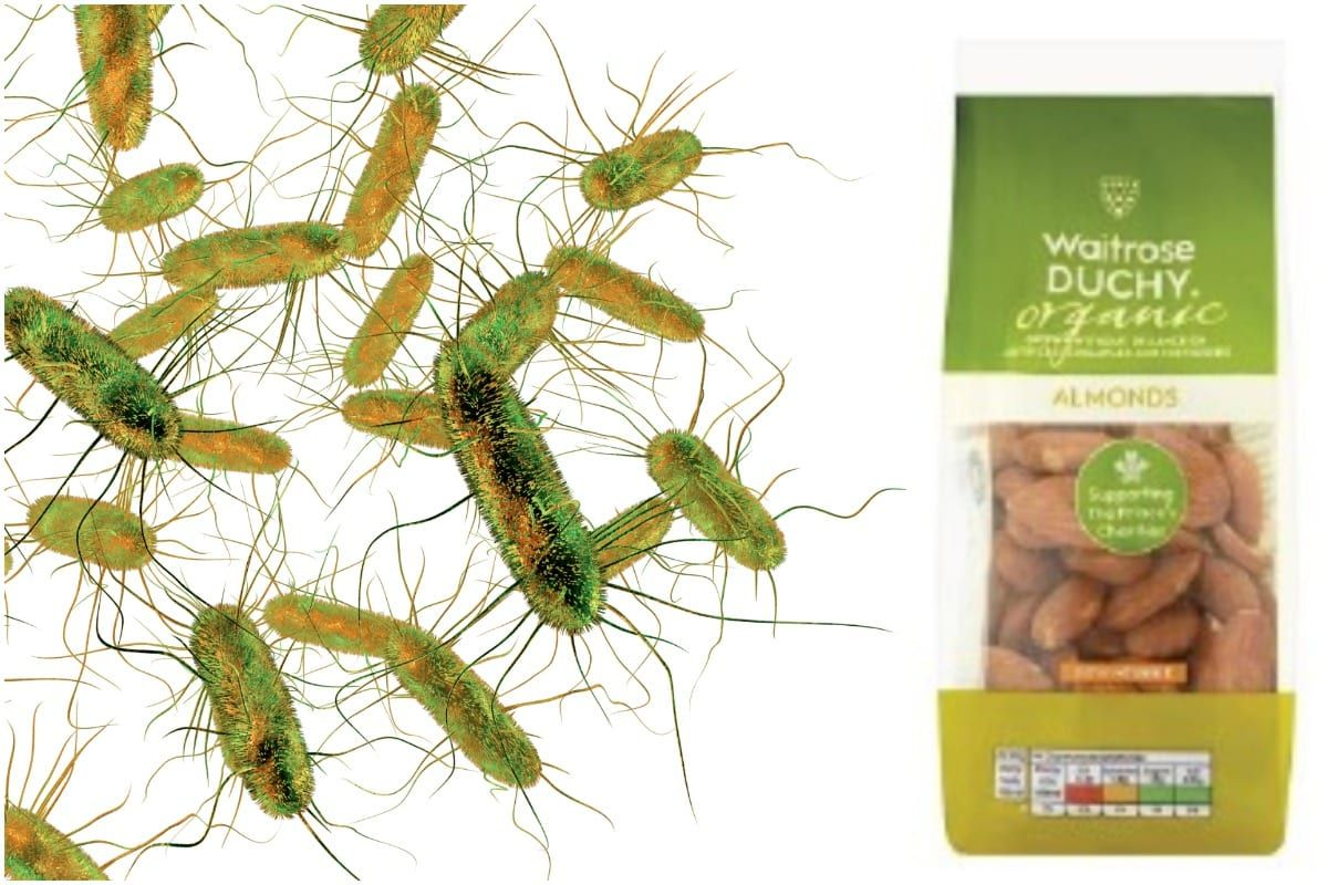 Waitrose is urgently recalling these packs of almonds over fears they contain Salmonella