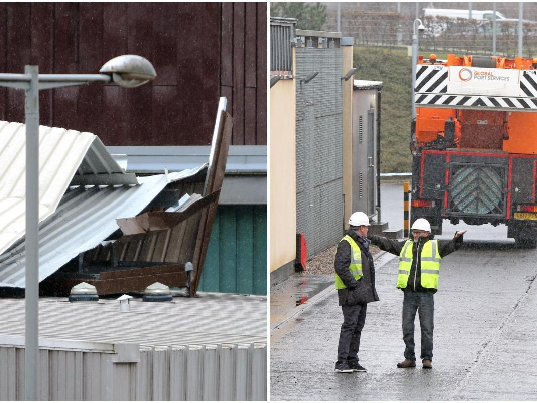 Gale force winds blow 50 tonne roof off Scottish court building