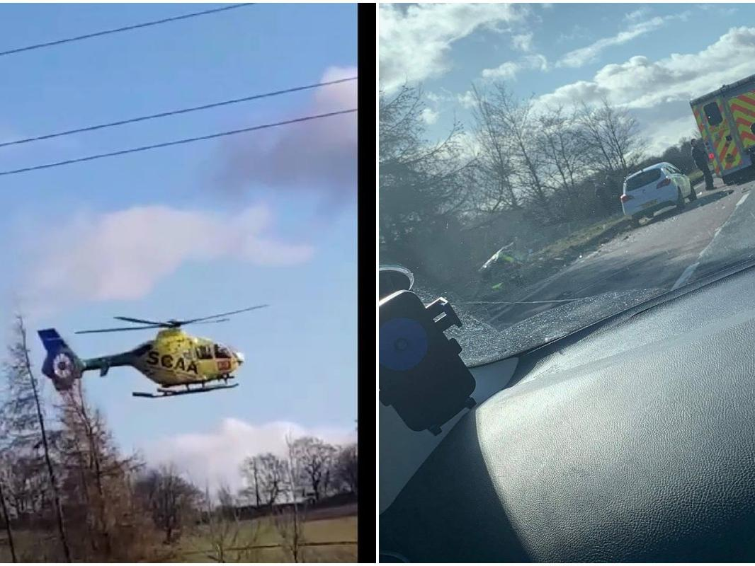 A92 crash: Scottish air ambulance called to major accident involving police vehicle