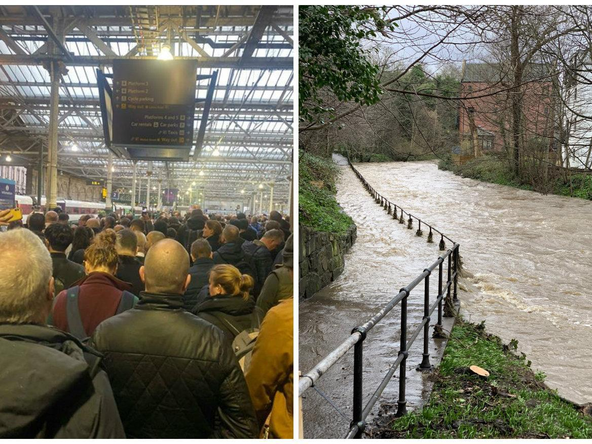 Storm Ciara: Shocking Edinburgh images show damage and disruption caused by storm