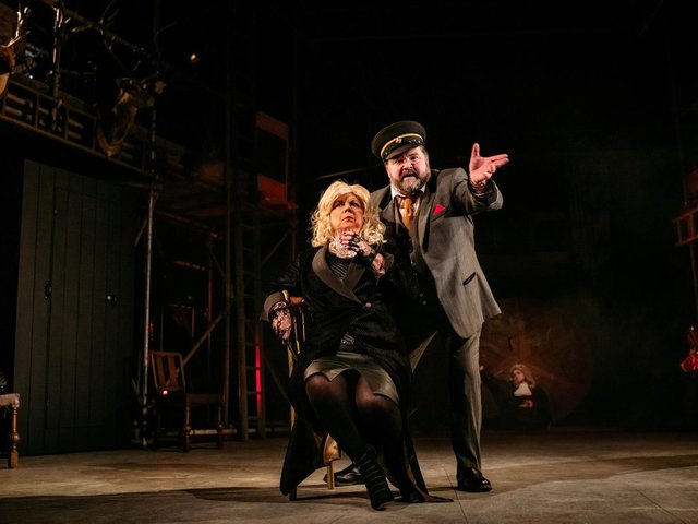 Elaine C Smith and Steven McNicoll in Mrs Puntila and her Man Matti