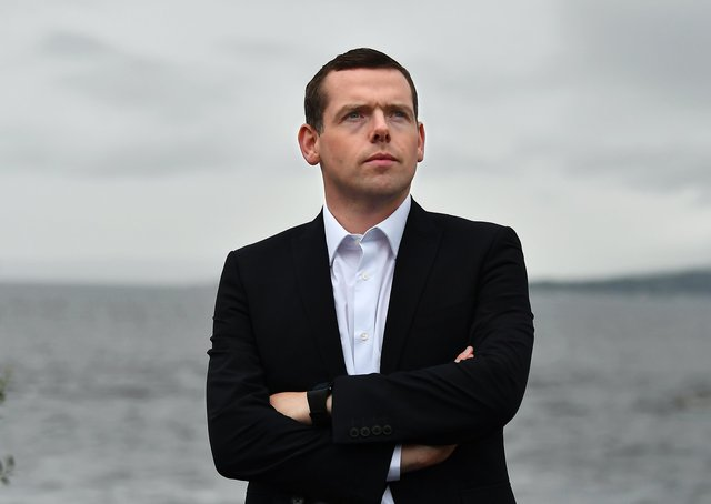 Douglas Ross the new leader of the Scottish Conservative Party (Picture: John Devlin)