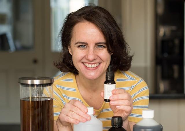 Sarah Rueger, owner of Edinburgh-based skincare brand Amaranthine