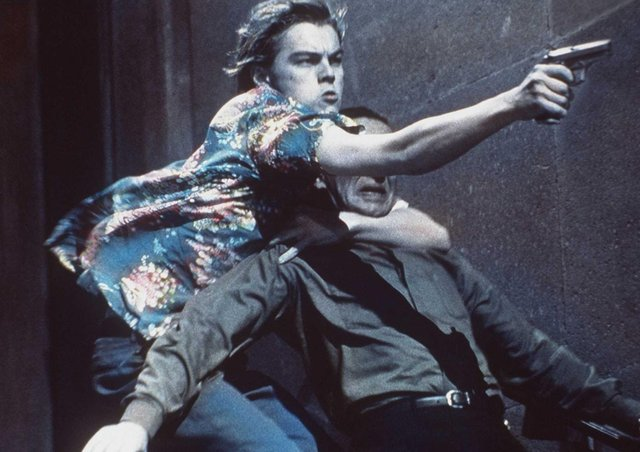 Leonardo DiCaprio in Romeo + Juliet, which was screened at the Film Festivial drive-in at Edinburgh Airport (Picture: Getty Images)