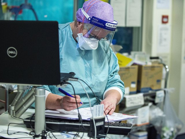 Inside an ICU red zone during the pandemic. Picture: Lisa Ferguson.