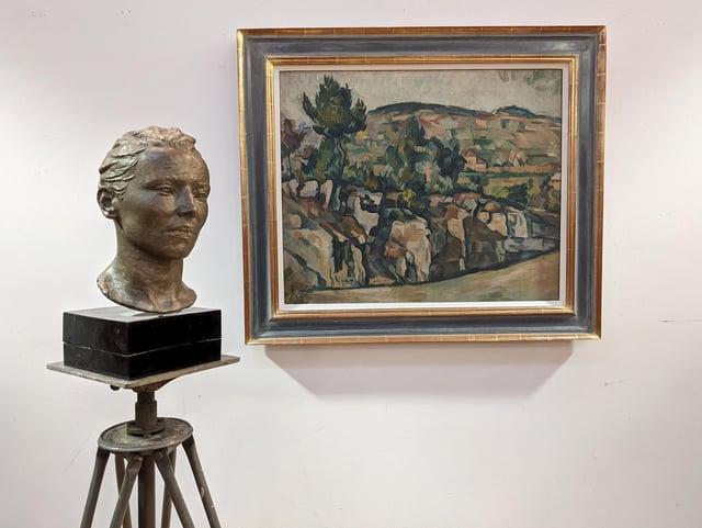 Under the hammer: Denis Peploe Hillside in Provence and bust