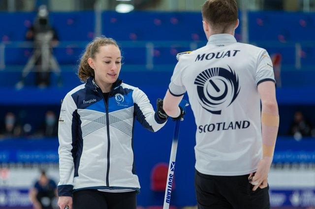 Scotland's Jen Dodds and Bruce Mouat enjoyed wins over Australia and Spain at the World Mixed Doubles Championship in Aberdeen. Picture: WCF/Celine Stucki