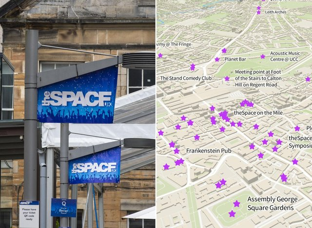 Edinburgh Fringe venue map: this is where all of the Fringe 2021 venues are at this year's Edinburgh Festival (Image credit: Lisa Ferguson/JPI Media)