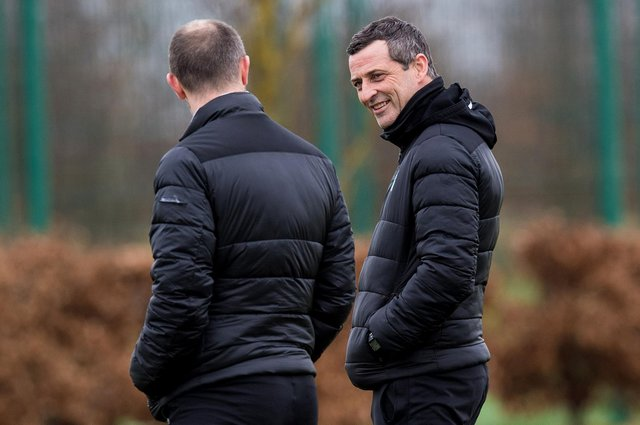 Hibs manager Jack Ross wants his players to remember that they still have advantage in race for third place finish, despite recent defeat. Photo by Ross Parker / SNS Group
