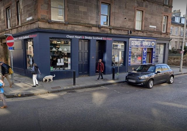 The Chest Heart & Stroke Scotland shop at Raeburn Place, Stockbridgewhich has faced losses of over £1,000 due to flooding in Edinburgh (Photo: Google Maps).