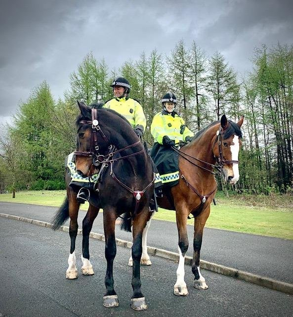 West Lothian Police's mounted section is hugely popular with locals.
