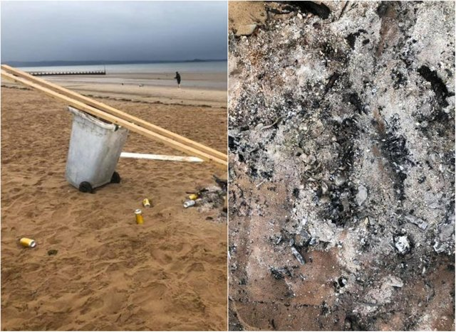 'It was only right that I did my part in helping to clear it up': Local cleans up damage and vandalism on Edinburgh beach
