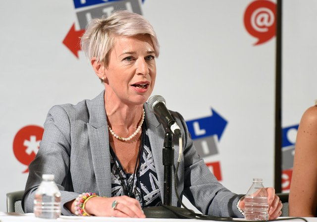 Katie Hopkins posted an Instagram Live video from her hotel room in Sydney, in which she said she was deliberately disobeying quarantine measures by taunting guards (Getty Images)