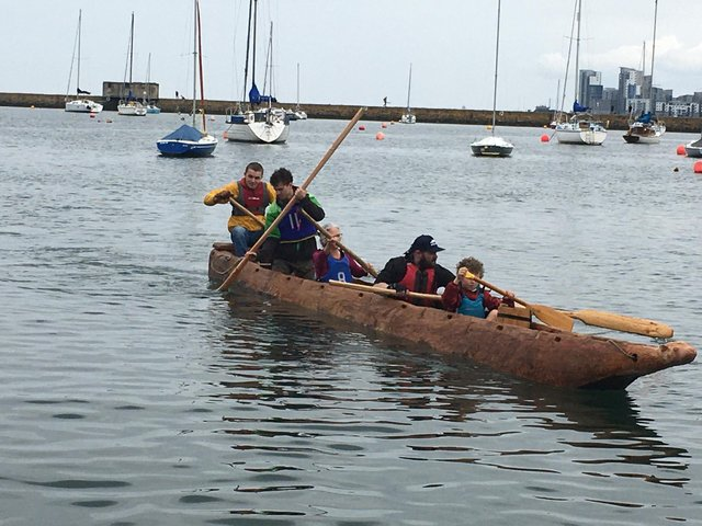 The log boat launched at Granton this month