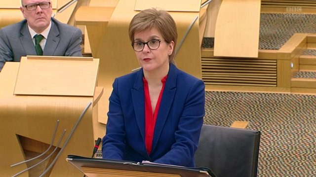 Nicola Sturgeon made the announcement today.
