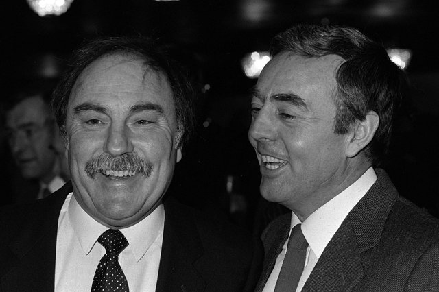 Jimmy Greaves and Ian St John; the pair found new fandom in the 1980s as TV duo Saint and Greavsie