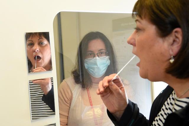 Asymptomatic Covid testing in Edinburgh. Picture: Greg Macvean