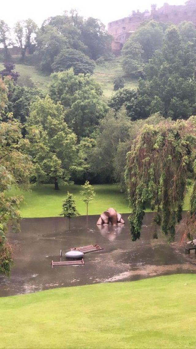 Flooding in Prines Street Gardens