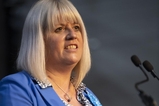 Susan Webber made her debut in the Scottish Parliament