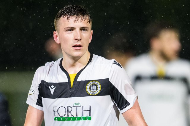 Josh Campbell in action for Edinburgh City in the League One play-off semi-final against Elgin City