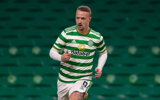 Leigh Griffiths in action for Celtic. The striker has been linked with a summer exit from the club.