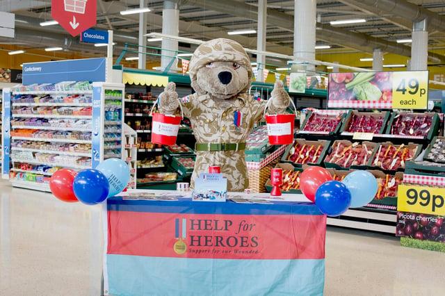 Hero Bear will be at Tesco Colinton on June 26 adn 27