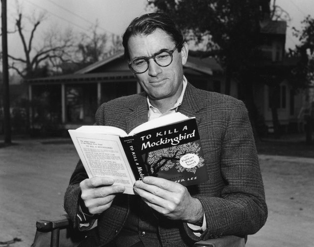 Gregory Peck appeared in the film version of Harper Lee's book