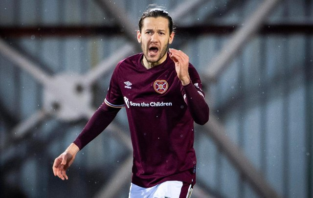 Peter Haring started Saturday's match between Hearts and Queen of the South among the substitutes. Picture: SNS