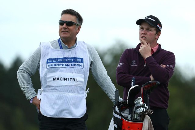 David Burns was both coach and caddie for Bob MacIntyre when he finished joint-second in the 2019 Porsche European Open at Green Eagle Golf Course in Hamburg. Picture: Matthew Lewis/Getty Images.