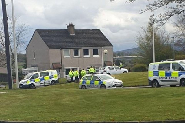 Police were called to the house on Dykes Road, close to the YMCA, at around 12:15pm on Wednesday, after concerns were raised for a person's wellbeing. (Credit: Amanda Ramsay)