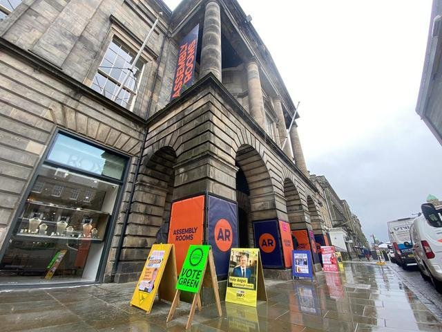 Deluge conditions prevented queues forming at the Assembly Rooms in Edinburgh