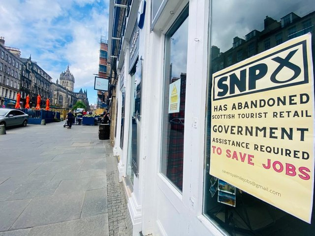 In an open letter from traders they described the Royal Mile as 'undoubtedly the jewel in the crown of Scottish tourism' but added that it is now a shadow of its former self and that urgent assistance is required to save the livelihoods of thousands of people whose jobs are imminently at risk.