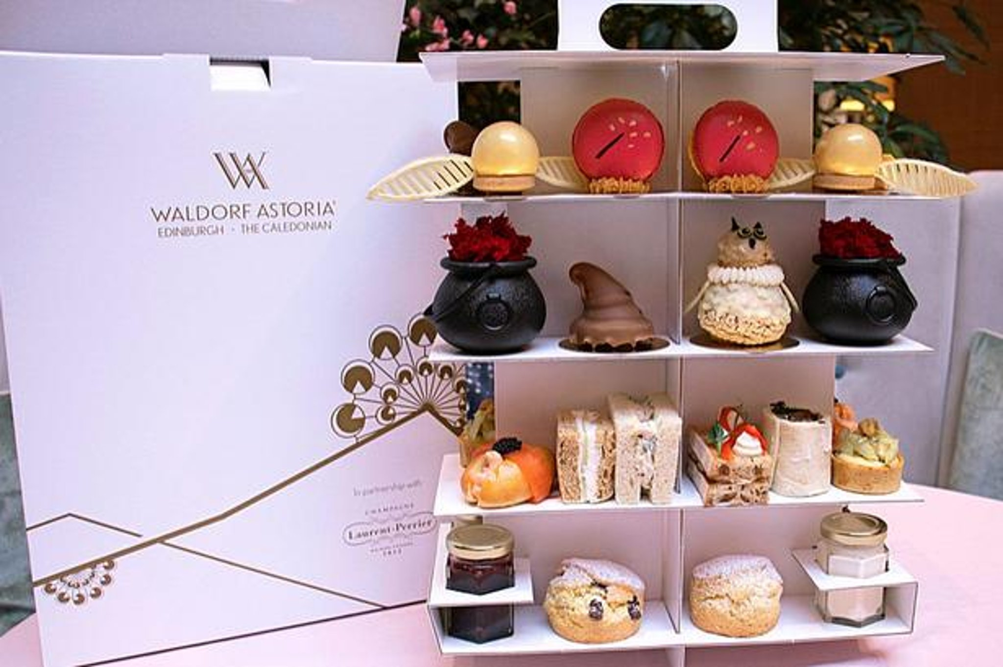 Harry Potter fans in Edinburgh can now have wizard-themed afternoon tea delivered