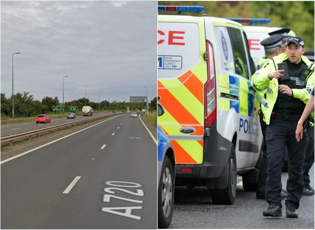 A720: Van stopped on Edinburgh bypass found to contain large quantities of heroin and cocaine