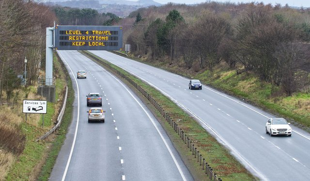 Travelling restrictions will ease from Friday, April 16 with people able to travel across Scotland (Photo: Lisa Ferguson).