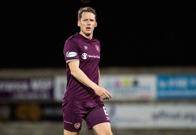 Christophe Berra in action for Hearts in one of his 263 appearances for the Tynecastle club, at East Fife last November  (Photo by Ross Parker / SNS Group)