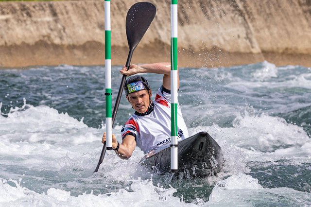 Bradley Forbes-Cryans is aiming for a medal at the Olympics in Tokyo. Picture: Kim Jones/British Canoeing