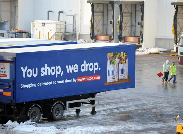 Tesco plans to cut the pay of 290 workers at its distribution centre at Livingston.  Pic Ian Rutherford