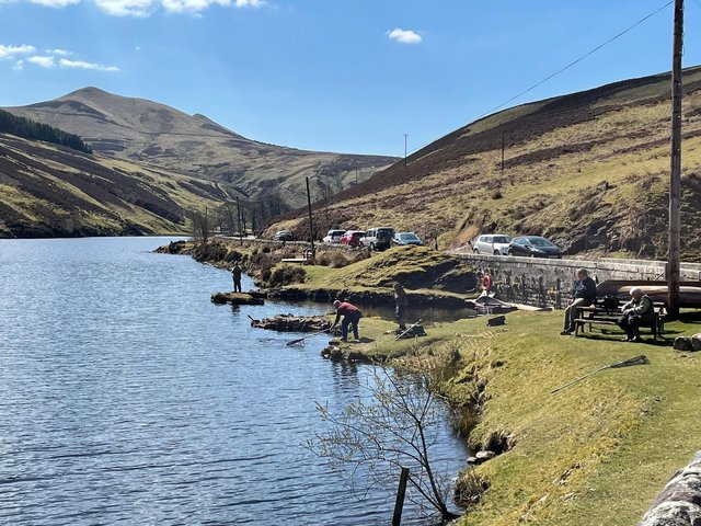 Loganlea is one of four reservoirs you can fish in the Pentland Hills.