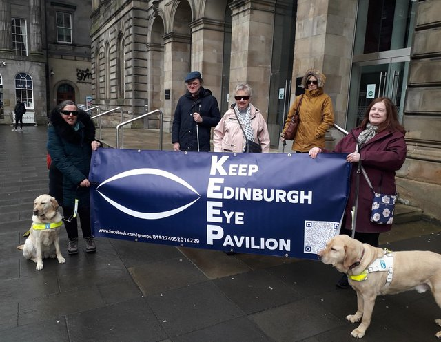 The Keep Edinburgh's Eye Pavilion group took their campaign to the health board