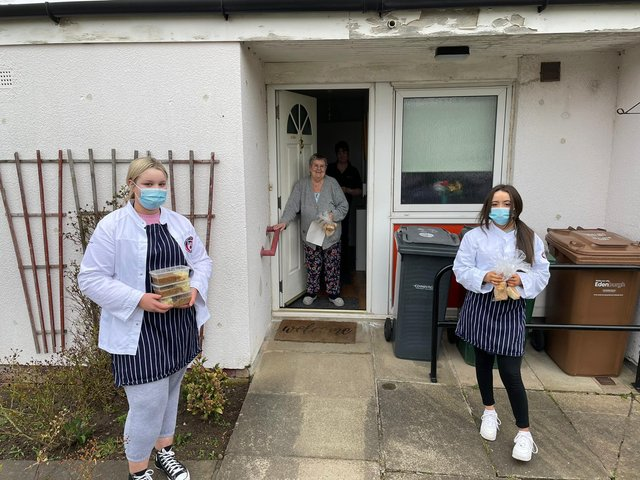 Castlebrae pupils were delivering meals in the community this week