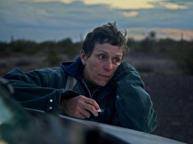 Frances McDormand as Fern in the Oscar-winning Nomadland