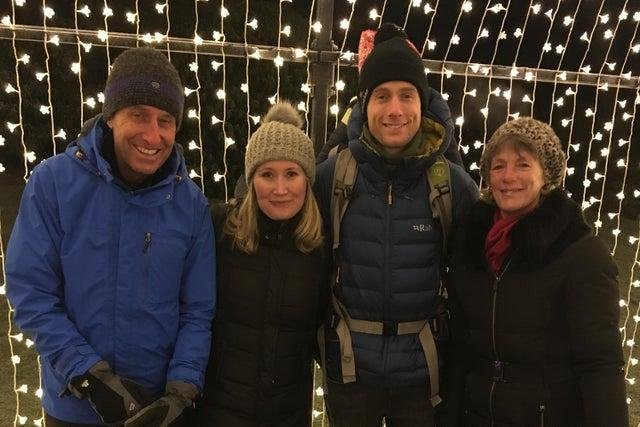 Left to right: Gordon Thomson, Nancy Thomson, Alistair Thomson and Sue Thomson.