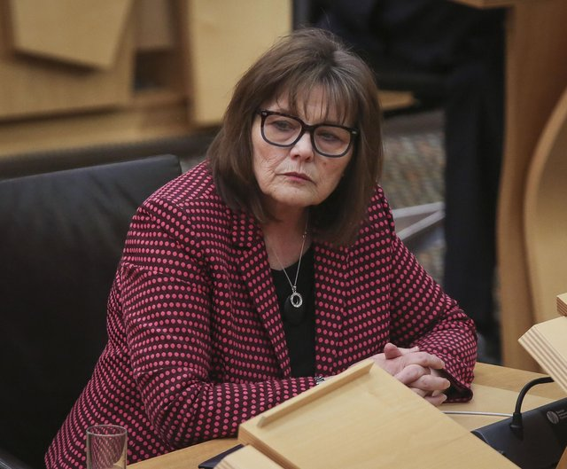 Health Secretary Jeane Freeman during a ministerial statement in the Scottish Parliament.