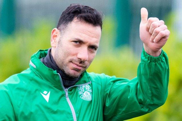 Hibs goalkeeper Ofir Marciano remains Covid-free despite positive tests in Israel national team. Photo by Mark Scates/SNS Group