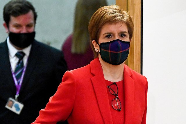 First Minister Nicola Sturgeon arrives to give evidence to the Committee on the Scottish Government Handling of Harassment Complaints, at Holyrood in Edinburgh.
