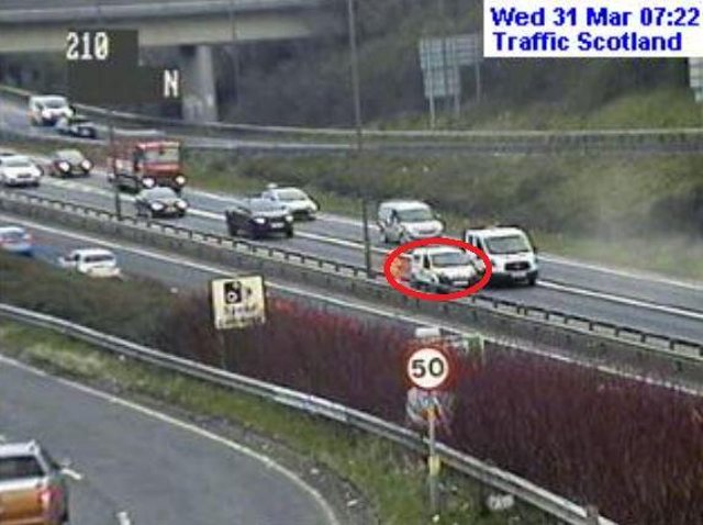 Broken down vehicle causes early-morning delays on Edinburgh city bypass.