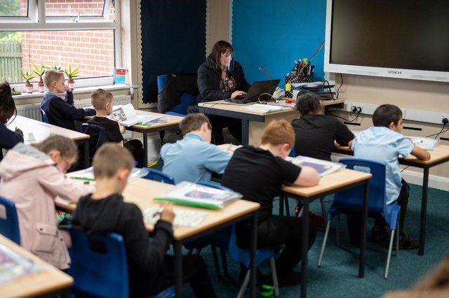 Primary school pupils may be too young for some types of sex education, Hayley Matthews says (Picture: Oli Scarff/AFP via Getty Images)